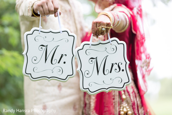 """""""Mr. and Mrs."""" signs."""