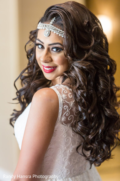 indian bride hair and makeup,indian fusion wedding reception