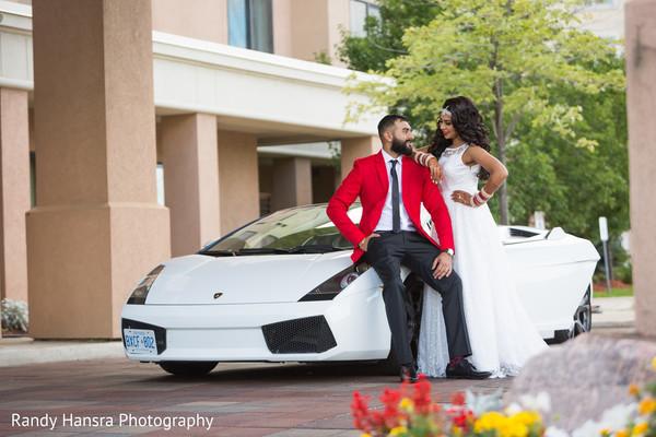 indian fusion wedding reception,indian wedding transportation,indian bride