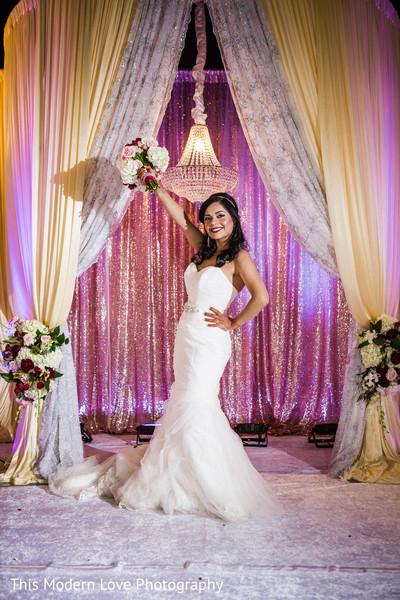 Indian bride at wedding reception