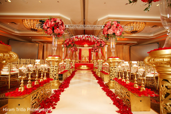 Lovely flower mandap in Dallas, TX Fusion Wedding by Hiram Trillo Art Photography