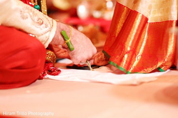 Saptapadi ritual in Dallas, TX Fusion Wedding by Hiram Trillo Art Photography