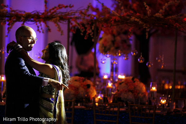 Indian couple first dance at wedding reception in Dallas, TX Fusion Wedding by Hiram Trillo Art Photography