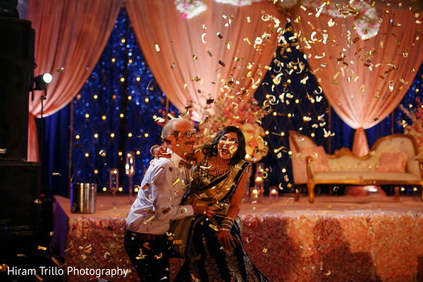 Indian couple having fun at wedding reception in Dallas, TX Fusion Wedding by Hiram Trillo Art Photography