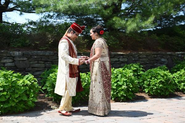 Candid shot of maharani and raja.