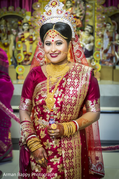 Traditional bride during wedding ceremony