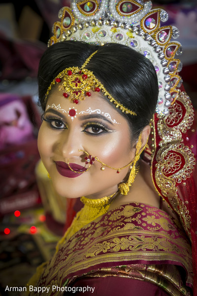 Gorgeous bride during wedding ceremony