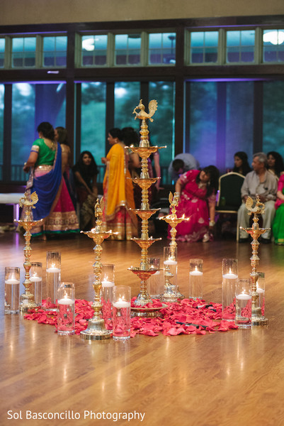 Garba stage in Spartanburg, SC, Fusion Wedding by Sol Basconcillo Photography