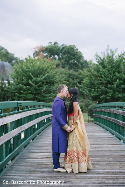 Indian couple kissing photography