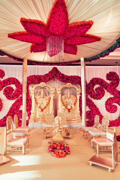 Gorgeous floral mandap decor