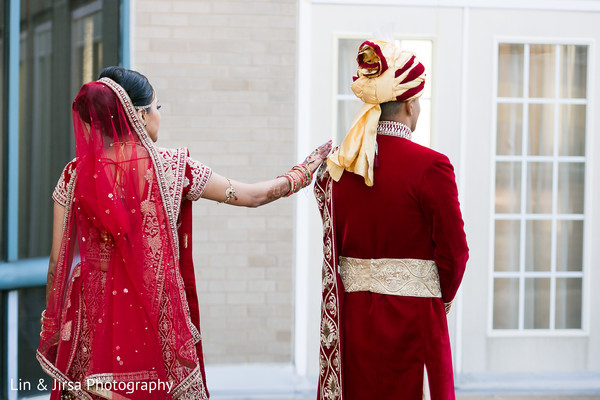first look photography,indian bride