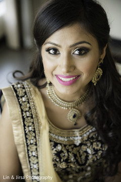 Lovely indian bridal makeup look.