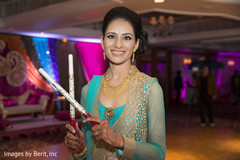 Lovely indian bride photoshoot at sangeet ceremony