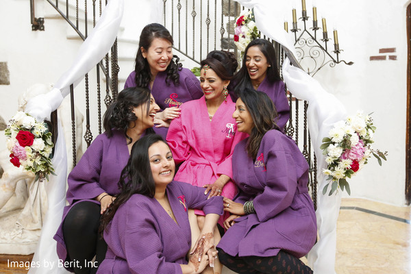 indian bridesmaids,indian bride hair and makeup,indian wedding gallery