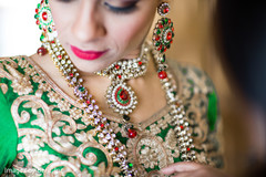 Indian bride almost ready for wedding ceremony