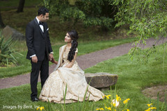 Indian couple photography before wedding reception