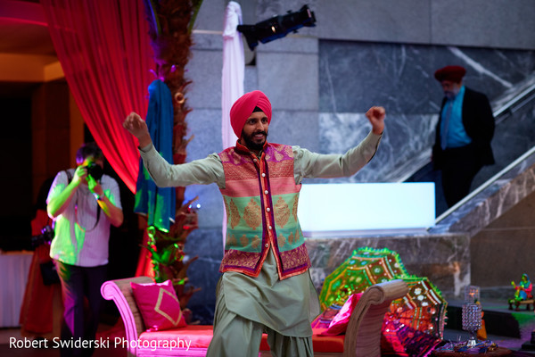 sikh groom,indian sangeet,indian pre-wedding fashion