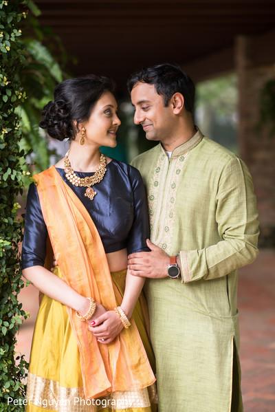 Gorgeous golden kundan in Atlanta, GA Indian Wedding by Peter Nguyen Photography