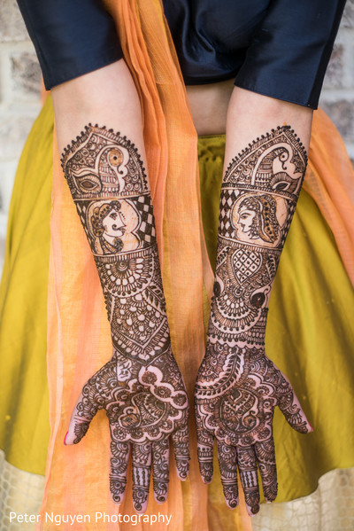 Indian bridal mehndi design. in Atlanta, GA Indian Wedding by Peter Nguyen Photography
