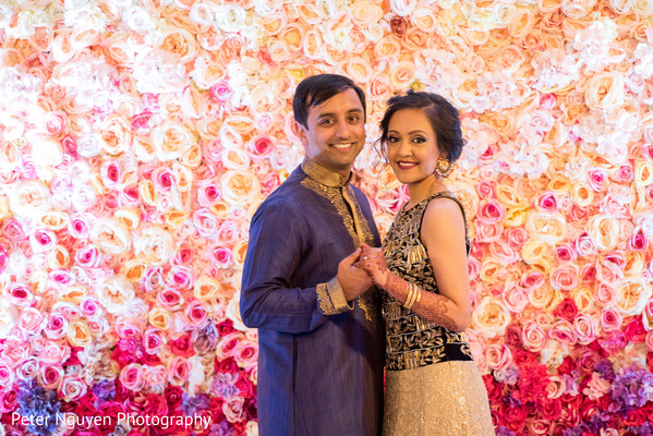 Indian couple reception portrait. in Atlanta, GA Indian Wedding by Peter Nguyen Photography