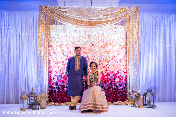 Fabulous reception stage. in Atlanta, GA Indian Wedding by Peter Nguyen Photography