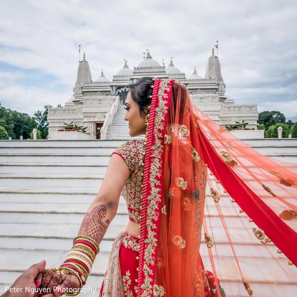 Graceful indian bride.