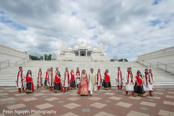 indian bride and groom,indian wedding photography,indian groomsmen,indian bridesmaids