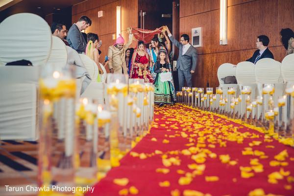 indian bride,indian wedding ceremony,outdoor indian wedding decor