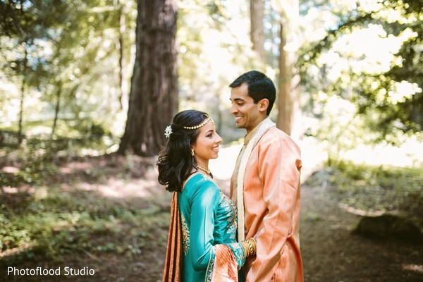 Indian couple photoshoot before sangeet ceremony in San Francisco, CA Fusion Wedding by Photoflood Studio