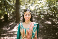Indian bride photo session before sangeet ceremony