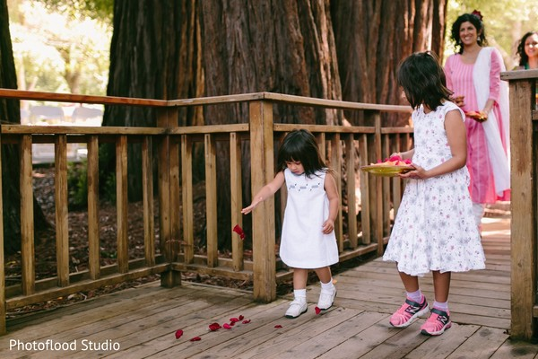 Indian kids at sangeet ceremony in San Francisco, CA Fusion Wedding by Photoflood Studio