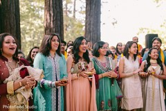 indian bridesmaids,indian bridesmaids' fashion,indian sangeet