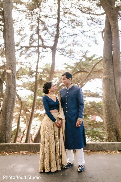 Indian couple photoshoot before wedding ceremony in San Francisco, CA Fusion Wedding by Photoflood Studio