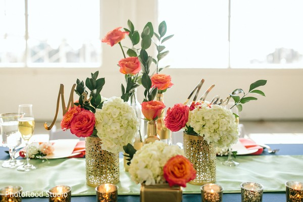 Floral centerpieces in San Francisco, CA Fusion Wedding by Photoflood Studio