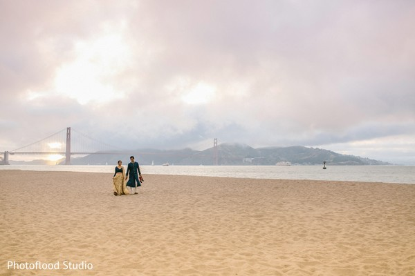 Outdoor photography after indian wedding reception in San Francisco, CA Fusion Wedding by Photoflood Studio