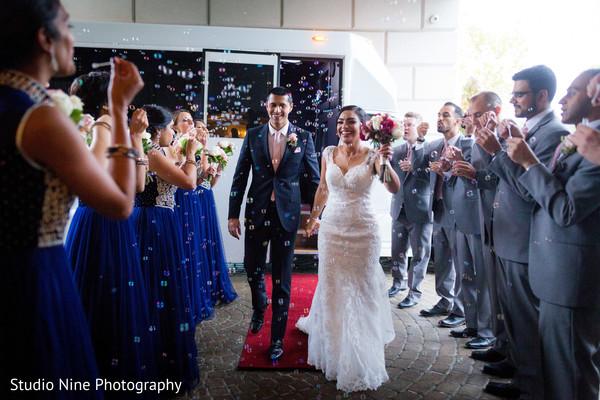 indian bridesmaids,indian groomsmen,newlyweds