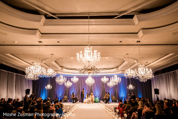 Gorgeous chandeliers in Washington, D.C. Indian Fusion Wedding by Moshe Zusman Photography Studio