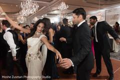 indian fusion wedding reception,indian sari,white and gold sari