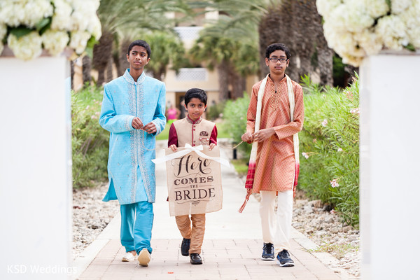 Ring bearer boys. in Nieuwpoort, Curaçao Indian Wedding by KSD Weddings