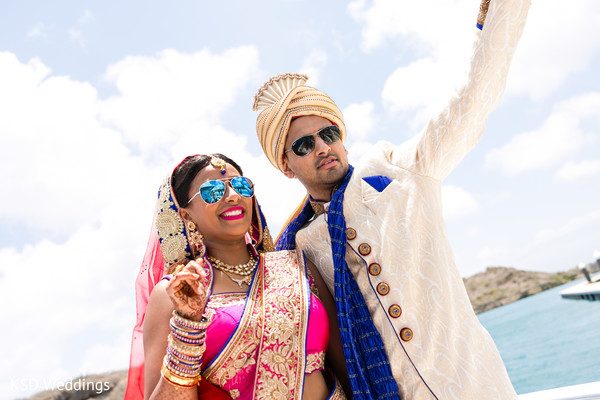 Luxury indian  destination wedding. in Nieuwpoort, Curaçao Indian Wedding by KSD Weddings