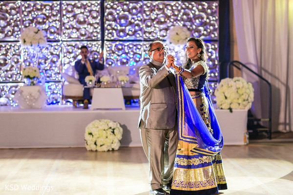 Father and daughter dance. in Nieuwpoort, Curaçao Indian Wedding by KSD Weddings
