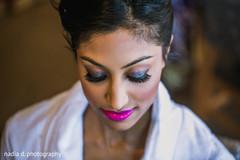 indian bride,indian bride getting ready,indian bride makeup