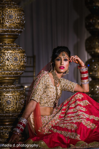 Indian bride's wedding attire. in Cincinnati, OH Indian Wedding by Nadia D Photography