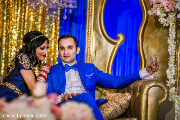 Modern indian bride and groom. in Cincinnati, OH Indian Wedding by Nadia D Photography