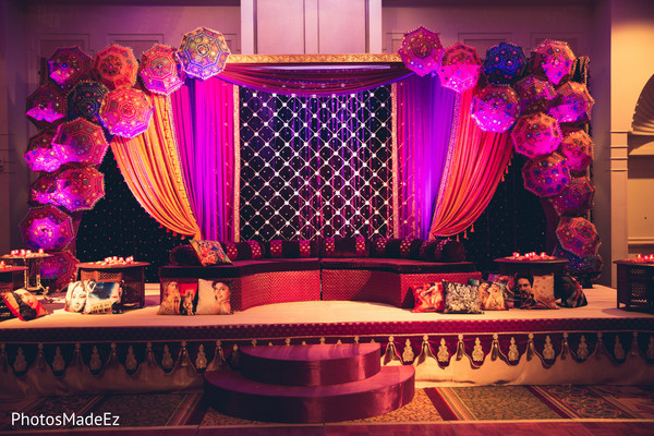 Woodland park nj indian wedding by photosmadeez for Sangeet decorations at home