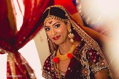 indian bridal lengha,indian bride makeup,bridal tikka