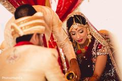 indian wedding mandap,indian bride makeup,bridal tikka