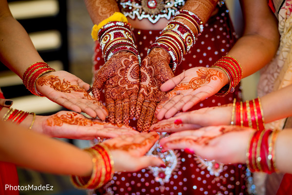 mehndi art,bride bangles,indian bridesmaids
