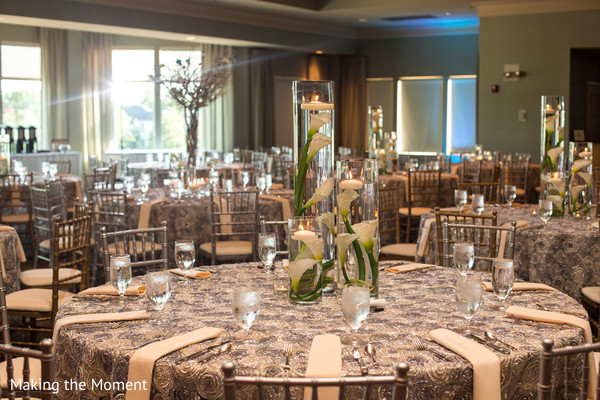 Lovely white flower centerpieces
