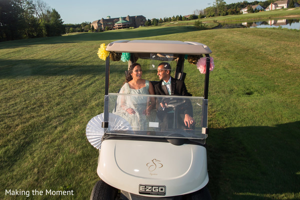 golf car,indian wedding photography